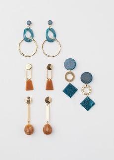 H&M H & M - 4 Pairs Earrings - Green