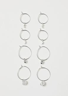 H&M H & M - 4 Pairs Earrings - Silver