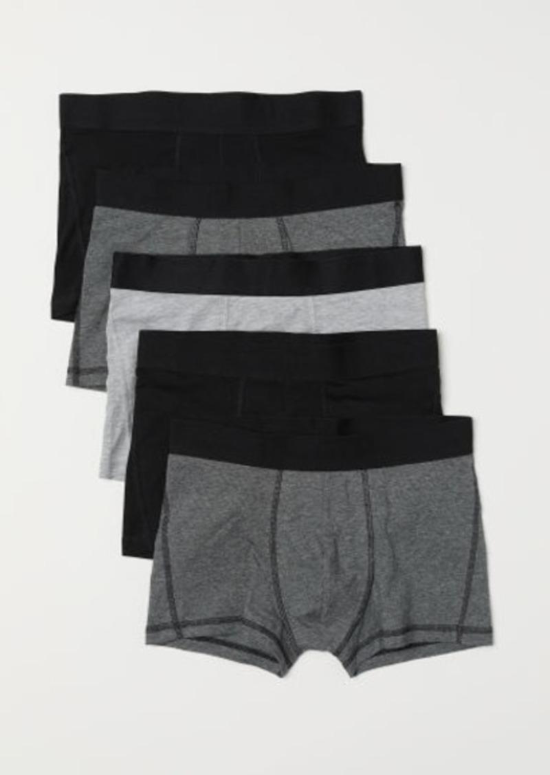 H&M H & M - 5-pack Short Boxer Shorts - Black