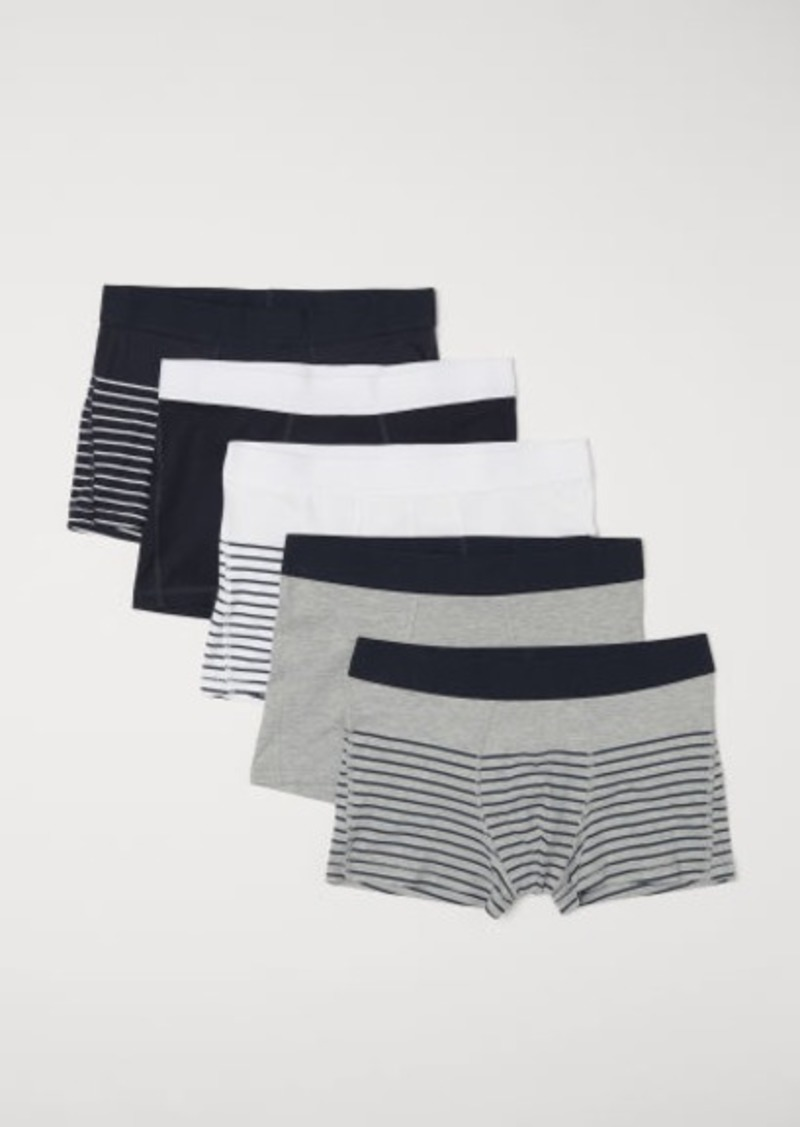 H&M H & M - 5-pack Short Boxer Shorts - Gray