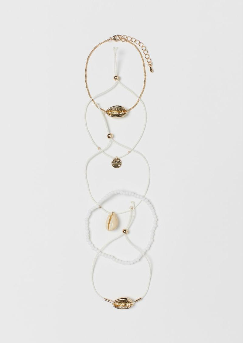 H&M H & M - 5-pack Bracelets - Gold
