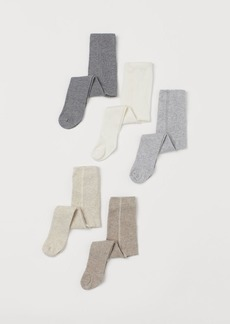 H&M H & M - 5-pack Fine-knit Tights - Gray