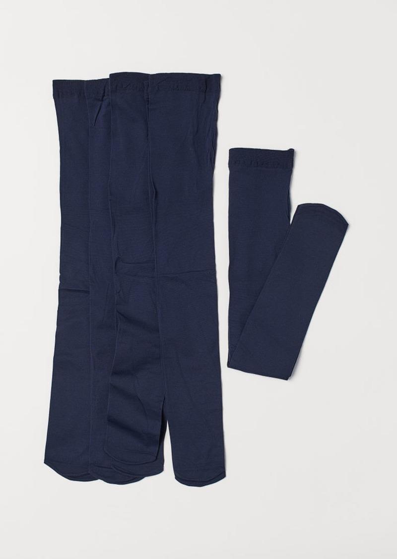 H&M H & M - 5-pack Lightweight Tights - Blue