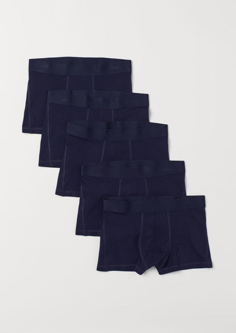 H&M H & M - 5-pack Short Boxer Shorts - Blue
