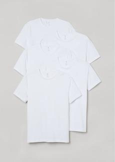 H&M H & M - 5-pack Slim Fit T-shirts - White