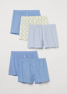 H&M H & M - 5-pack Woven Boxer Shorts - Yellow