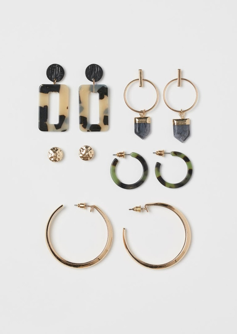 H&M H & M - 5 Pairs Earrings - Gold
