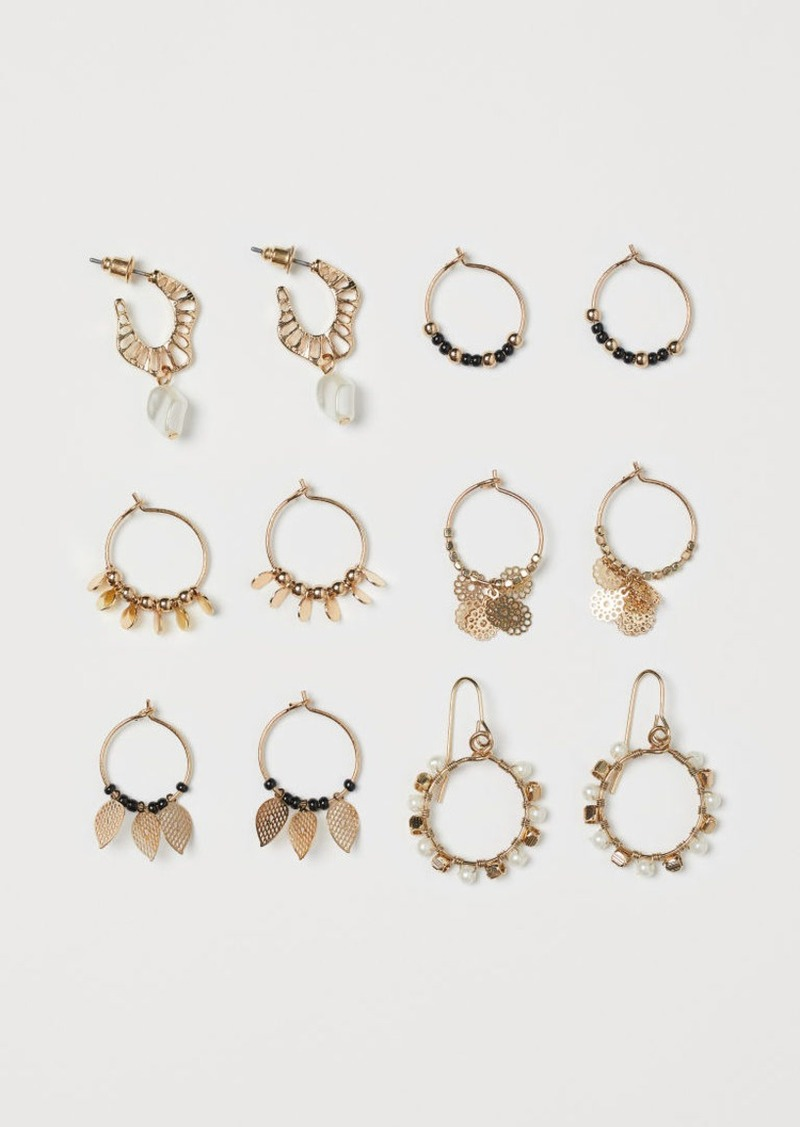 H&M H & M - 6 Pairs Earrings - Gold