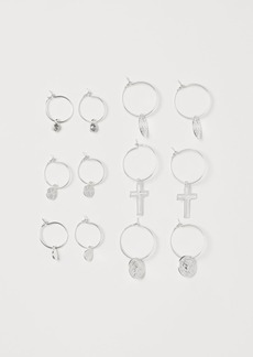 H&M H & M - 6 Pairs Earrings - Silver