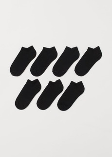 H&M H & M - 7-pack Ankle Socks - Black