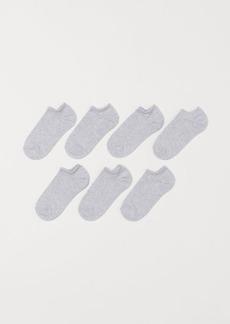 H&M H & M - 7-pack Ankle Socks - Gray