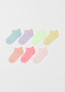 H&M H & M - 7-pack Ankle Socks - Yellow