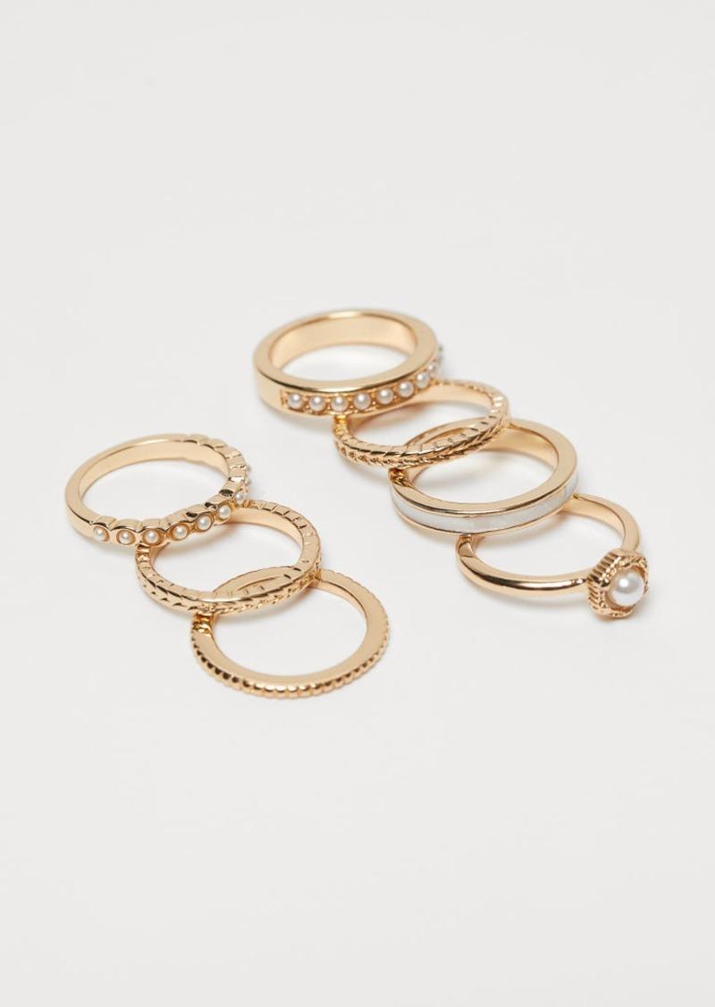 H&M H & M - 7-pack Rings - White