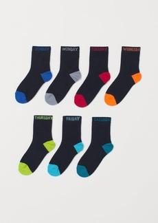 H&M H & M - 7-pack Socks - Blue