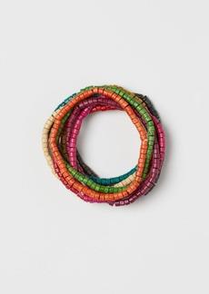 H&M H & M - 9-pack Wooden Bracelets - Pink