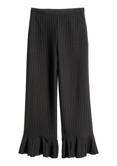 H&M H & M - Ankle-length Flounced Pants - Black