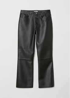 H&M H & M - Ankle-length Leather Pants - Black