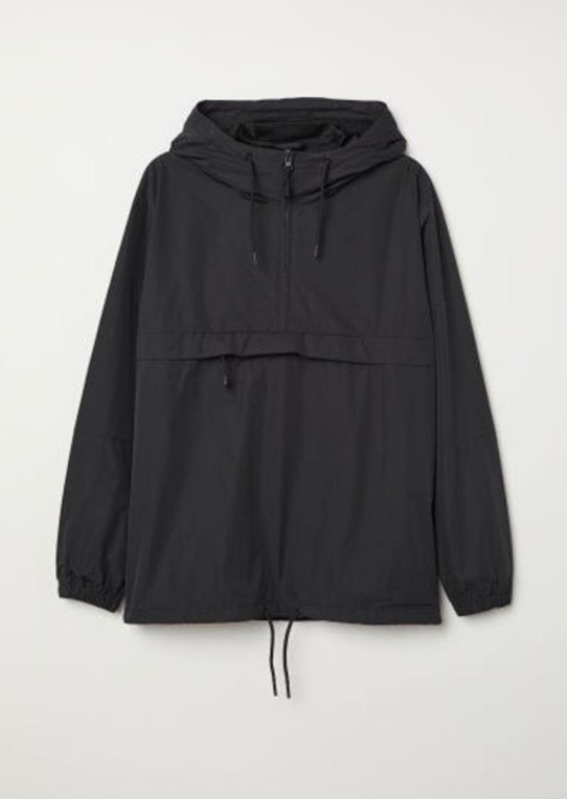 H&M H & M - Anorak with Hood - Black