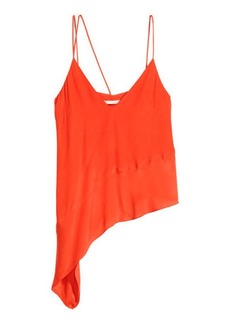 H&M H & M - Asymmetric Satin Top - Orange