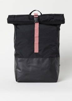 H&M H & M - Backpack with Roll-top Opening - Black