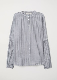 H&M H & M - Balloon-sleeved Blouse - Blue