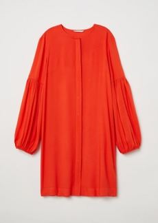 H&M H & M - Balloon-sleeved Dress - Orange