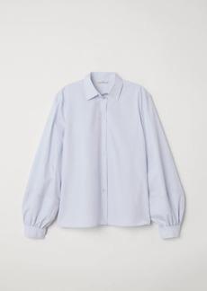 H&M H & M - Balloon-sleeved Shirt - Blue