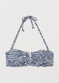 H&M H & M - Bandeau Bikini Top - Blue