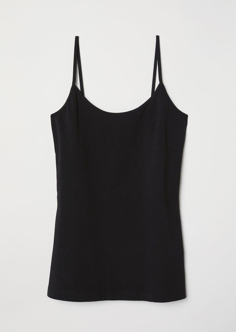 H&M H & M - Basic Camisole Top - Black
