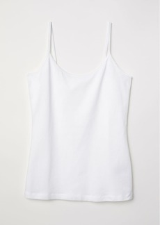 H&M H & M - Basic strappy top - White