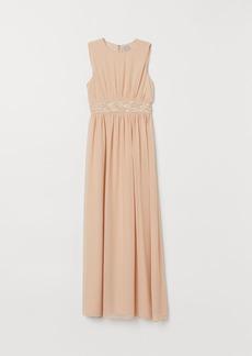 H&M H & M - Beaded Dress - Beige