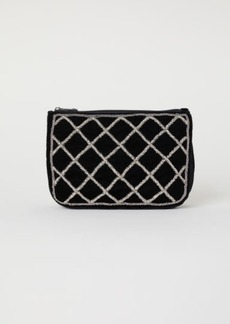H&M H & M - Beaded Makeup Bag - Black