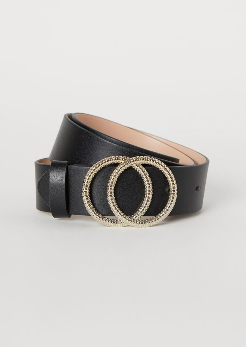 H&M H & M - Wide Belt - Black