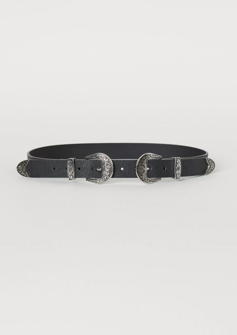 H&M H & M - Belt with Buckles - Black
