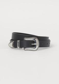 H&M H & M - Belt with Large Buckle - Black