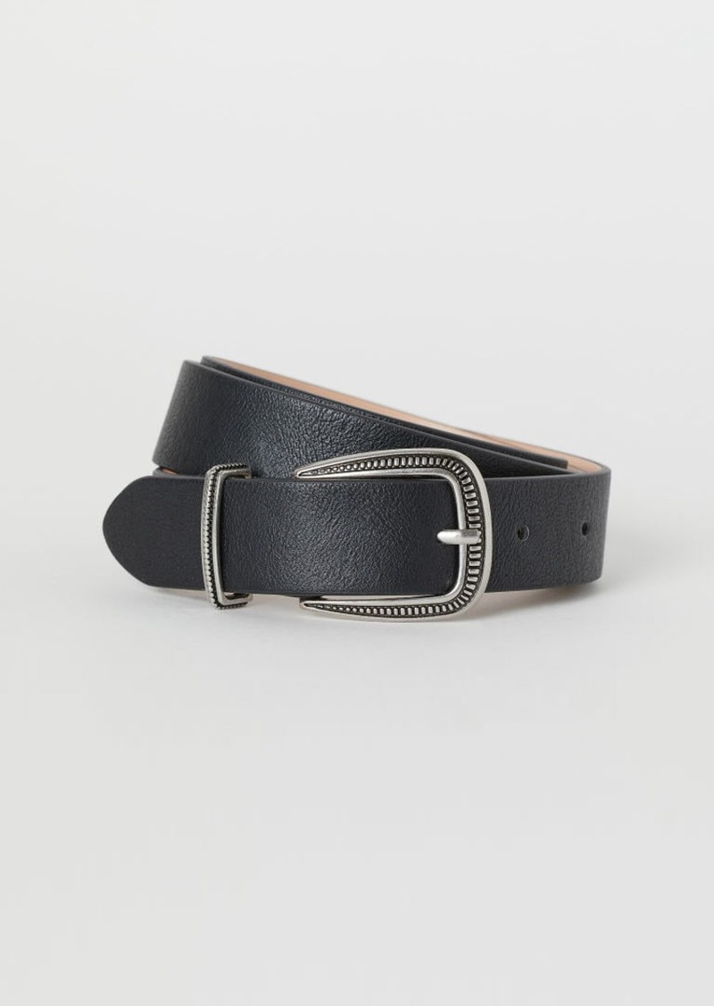 H&M H & M - Belt with Metal Buckle - Black