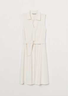H&M H & M - Belted Dress - White