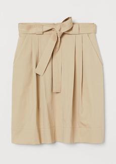 H&M H & M - Belted Skirt - Beige