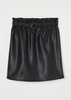 H&M H & M - Belted Skirt - Black