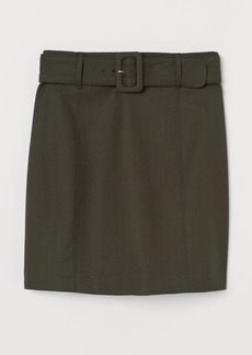H&M H & M - Belted Skirt - Green