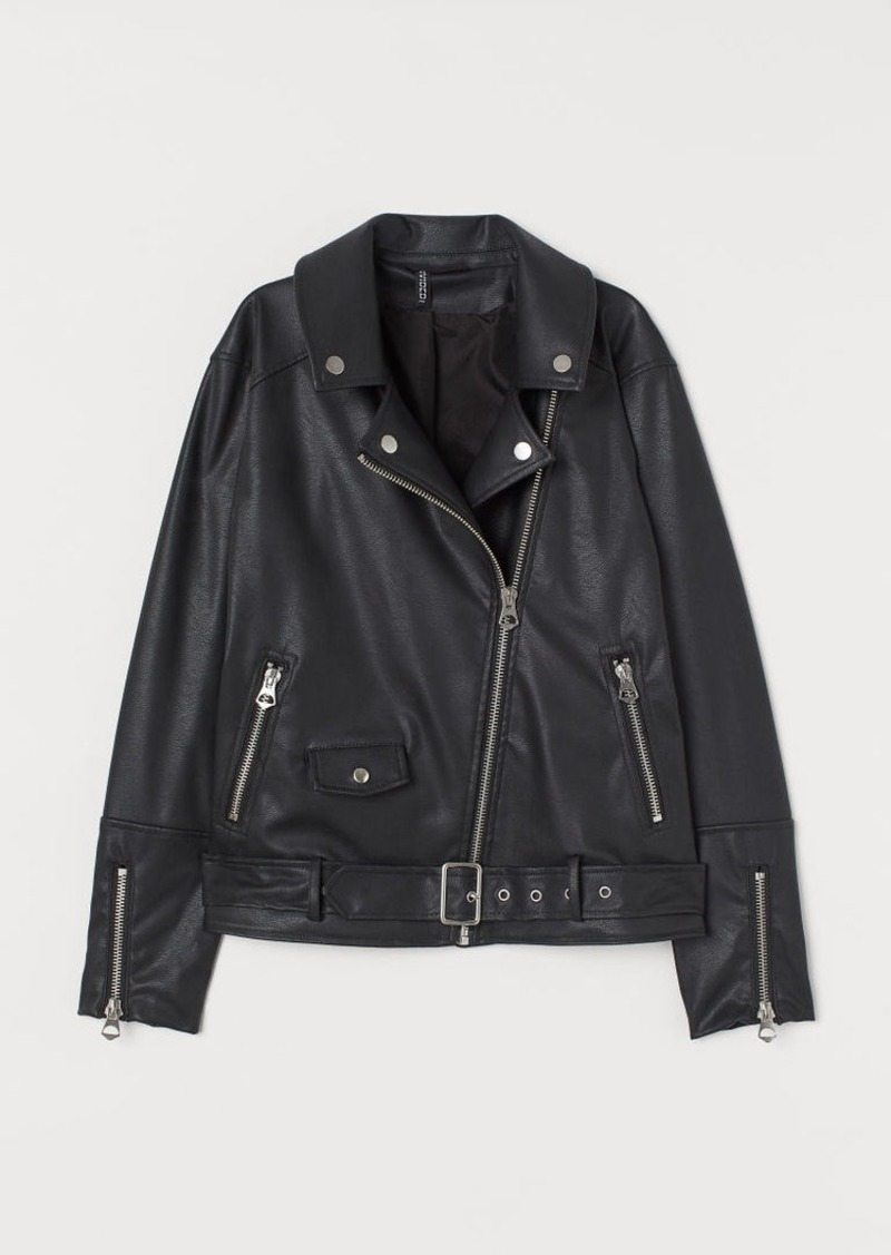 H&M H & M - Biker Jacket - Black