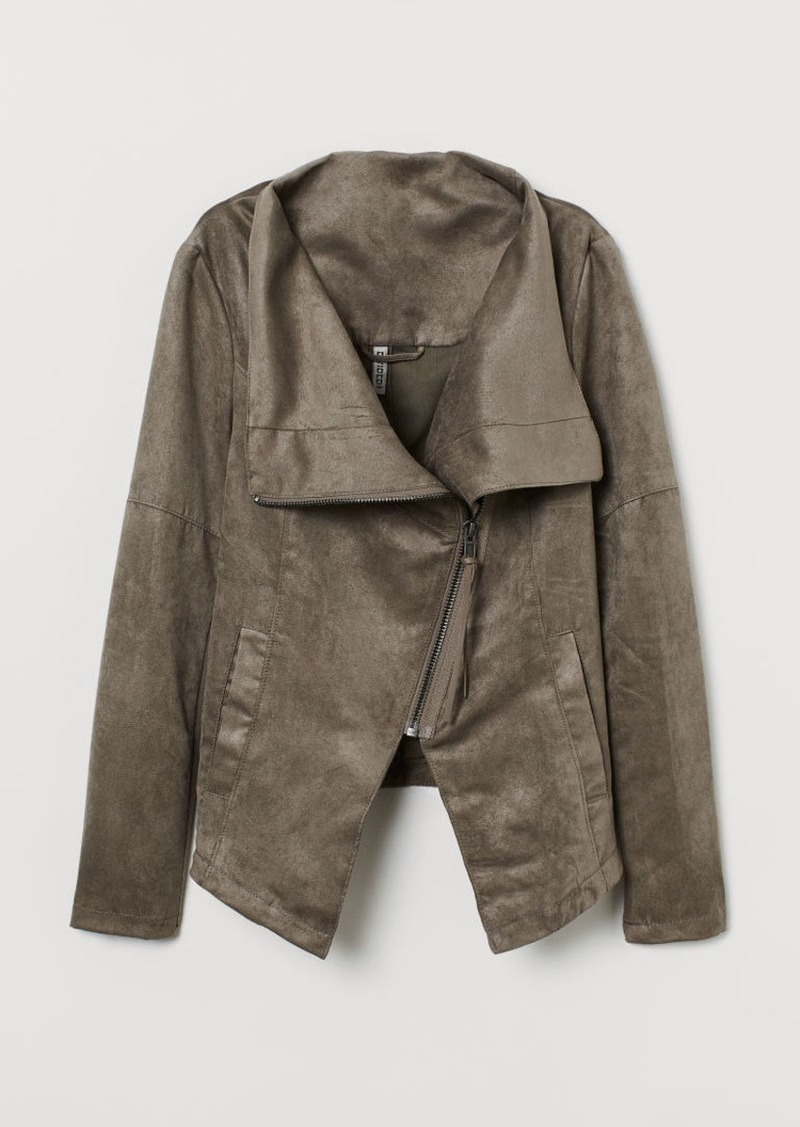 H&M H & M - Biker Jacket - Brown