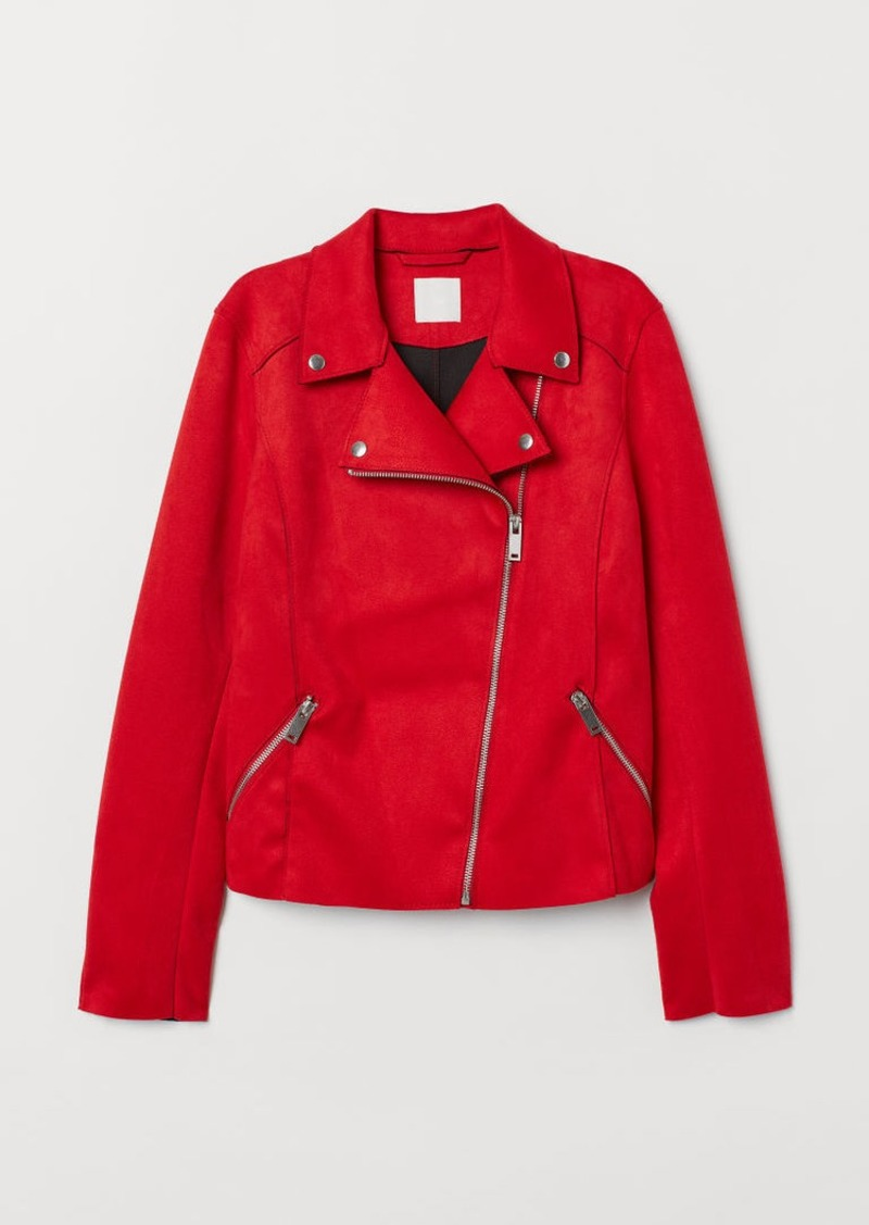 H&M H & M - Biker Jacket - Red