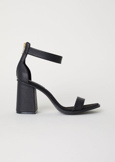 H&M H & M - Block-heeled Sandals - Black