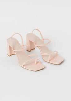 H&M H & M - Block-heeled Sandals - Pink