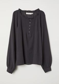 H&M H & M - Blouse with Buttons - Gray