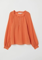 H&M H & M - Blouse with Buttons - Orange