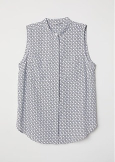 H&M H & M - Blouse with Pockets - White
