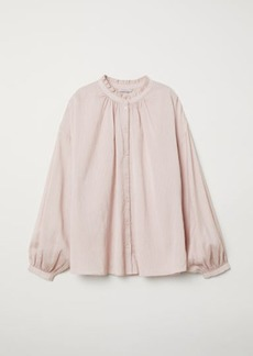 H&M H & M - Blouse with Ruffled Collar - Pink
