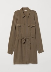 H&M H & M - Blouse with Tie Belt - Green